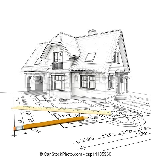 Progetto, casa. Pavimento, casa, isolato, stilizzato