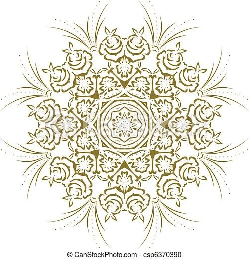 Stampino mandala disegno indiano clipart vettoriale