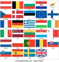 Unione, tutte bandiere europee, paesi. Tutto, paesi ...