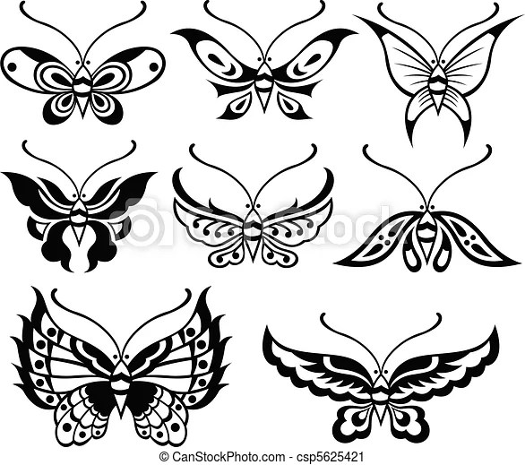 蝶, イラスト.