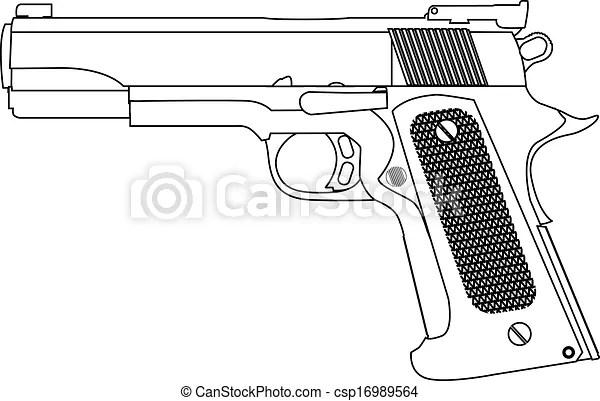 Clip Art Vector van slagen, hand, schets, geweer