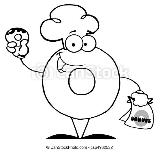 Ilustracje Wektorowe Donut, rysunek, litera, dzierżawa