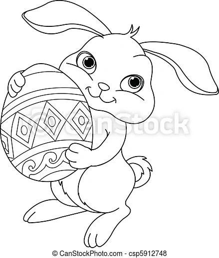 Wektory królik, Kolorowanie, Wielkanoc, Strona