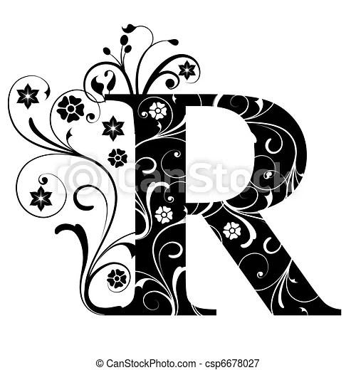 Zbiory Ilustracji litera, kapitał, R csp6678027