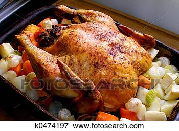 Picture - roasted chicken.  fotosearch - search  stock photos,  pictures, images,  and photo clipart