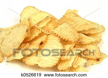 Stock Photograph - potato chips.  fotosearch - search  stock photos,  pictures, images,  and photo clipart
