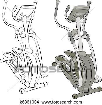 Drawings of Elliptical Machine Line Drawing k6361034