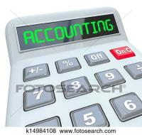 Stock Illustration of Accounting Word Calculator ...