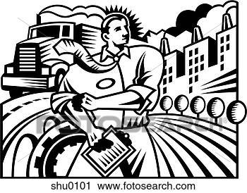 Clipart  um ilustrao de um gerente shu0101  Busca