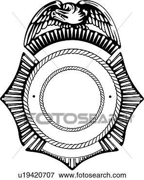 Clip Art of , badge, department, emergency, emergency