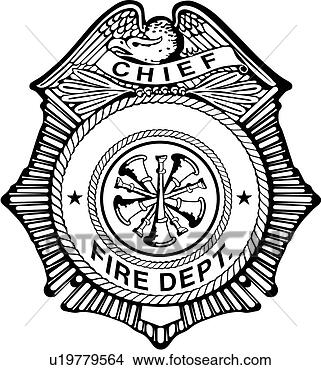 Clipart of , badge, chief, department, emergency
