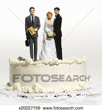 Archivio fotografico - matrimonio, torta,  cima, sposo, sposa,  avvocato. fotosearch  - cerca archivi  fotografici, foto,  illustrazioni,  stampe murali,  immagini e foto  clipart