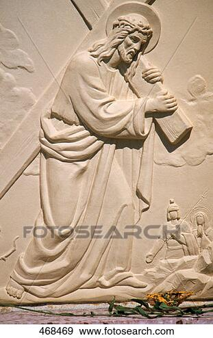 Stock Photograph - crucifixion relief. fotosearch - search stock photos, pictures, wall murals, images, and photo clipart