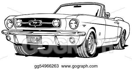 Stock Illustration 66 Mustang Convertible Stock Art