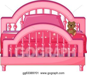 Vector Art A bed of a child Clipart Drawing gg63389701 GoGraph