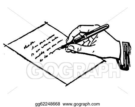 Student Writing Clipart Black and White Writing Clip Art