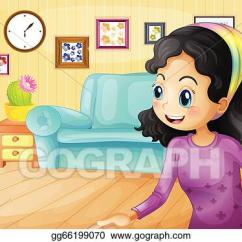 Living Room Pictures Clipart Cabinets For Vector A Happy Mother In The