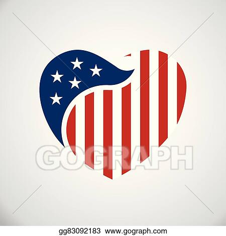 vector art american flag