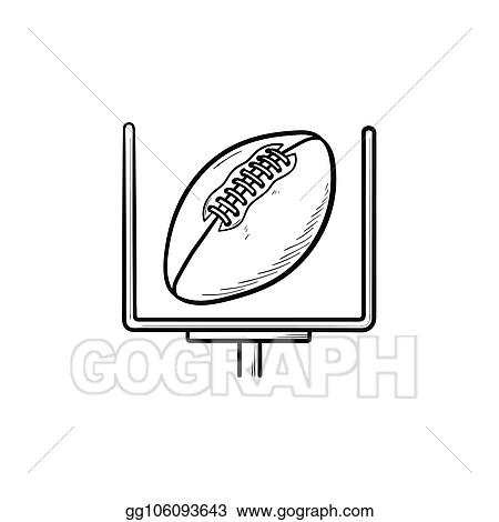 A terrific outline of the basics! Vector Stock American Football Goal Hand Drawn Outline Doodle Icon Stock Clip Art Gg106093643 Gograph