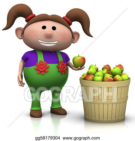 stock illustration - apple harvest