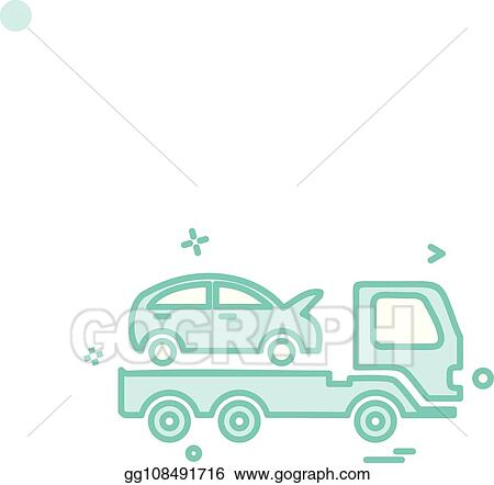Vector Art Auto Insurance Car Tow Truck Icon Vector Design Clipart Drawing Gg108491716 Gograph
