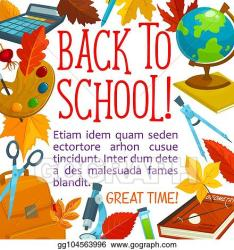 Vector Stock Back to school vector study stationery poster Clipart Illustration gg104563996 GoGraph