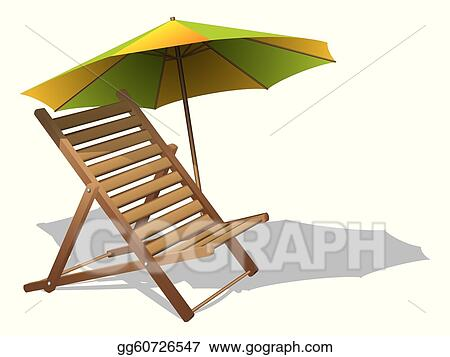 beach chair and umbrella clipart ball chairs for work clip art vector with stock eps gg60726547