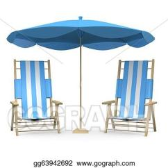 Beach Chair And Umbrella Clipart Vinyl Office Stock Illustration Chairs With Drawing