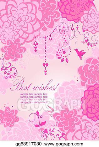 Pink Banner Clipart : banner, clipart, Vector, Illustration, Beautiful, Banner., Clipart, Gg68917030, GoGraph