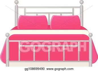 EPS Vector Bed icon in flat design vector cartoon illustration Stock Clipart Illustration gg108699490 GoGraph