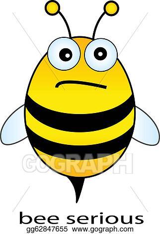 clip art - bee . stock illustration