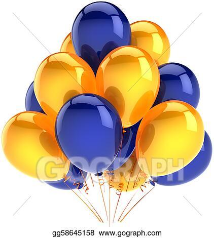 clip art - birthday party balloons