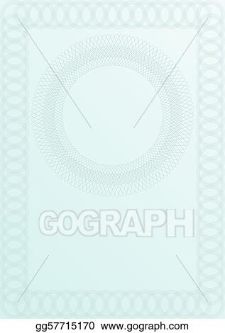 EPS Vector - Blank certificate background. Stock Clipart ...