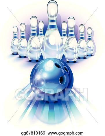 Bowling Ball Clipart : bowling, clipart, Vector, Bowling, Motion, Pins., Clipart, Gg67810169, GoGraph