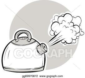 EPS Illustration Boiling kettle Vector Clipart gg69970872 GoGraph