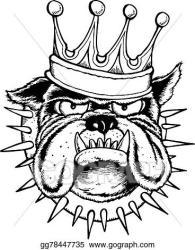 Vector Art Bulldog king Clipart Drawing gg78447735 GoGraph
