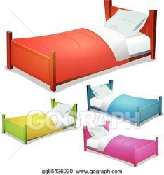 Vector Clipart Cartoon bed set Vector Illustration gg65436020 GoGraph