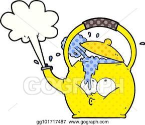 Vector Illustration Cartoon boiling kettle Stock Clip Art gg101717487 GoGraph