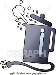 Vector Clipart Cartoon electric kettle boiling Vector Illustration gg101645444 GoGraph