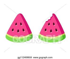 Clip Art Vector Cartoon watermelon slice Stock EPS gg112469659 GoGraph