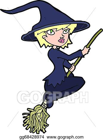 vector stock cartoon witch