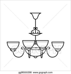 Ceiling Lamp Clipart Black And White