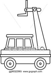 Vector Art Cherry picker icon outline EPS clipart gg96322965 GoGraph