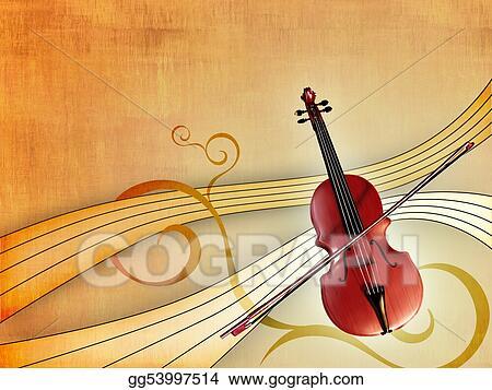clip art - classical music. stock