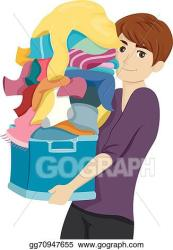 EPS Vector College boy laundry Stock Clipart Illustration gg70947655 GoGraph