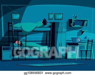 College Student Computer Cartoon