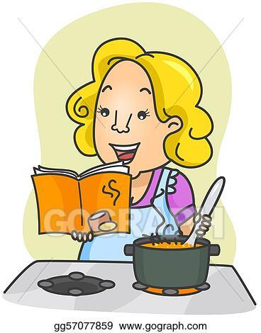 Cookbook Clipart : cookbook, clipart, Drawing, Cookbook., Clipart, Gg57077859, GoGraph