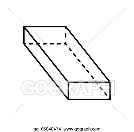vector art cuboid black