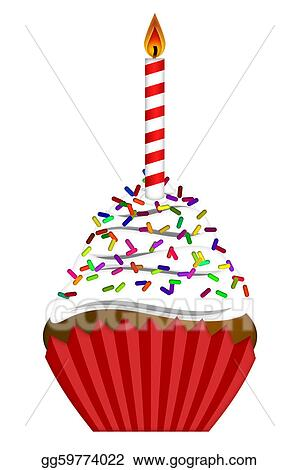 stock illustration - cupcake