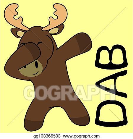 vector illustration dab dabbing